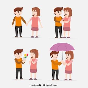 Молодая пара в любви
