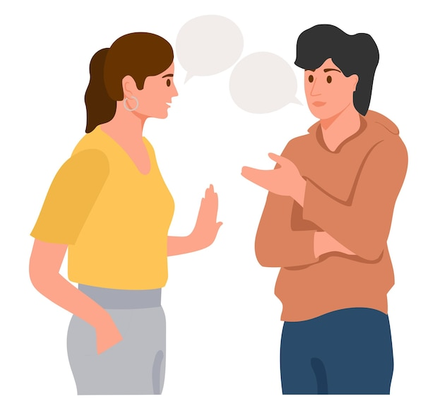 一緒に話している若いカップル多国籍の友人の積極的なコミュニケーション人々のコミュニケーション