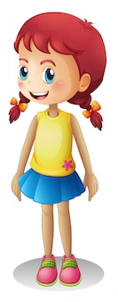 Young cute cartoon girl