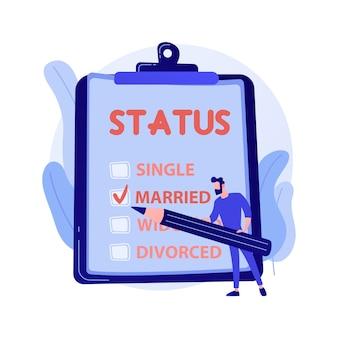 恋に若いガールフレンドとボーイフレンド。現代のロマンス、関係のステータス、インターネットの浮気。シンボルのように保持しているカップル、一緒にハートサイン。ベクトル分離概念比喩イラスト