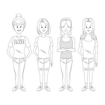 어린 소녀 만화