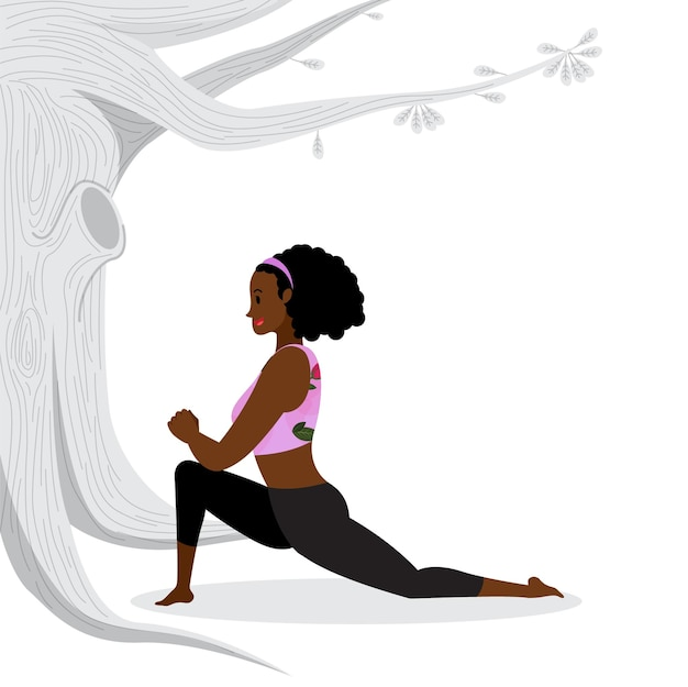 Young lady practicing yoga