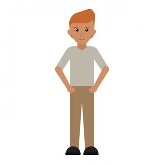 Young man cartoon