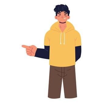 젊은 남자 캐릭터