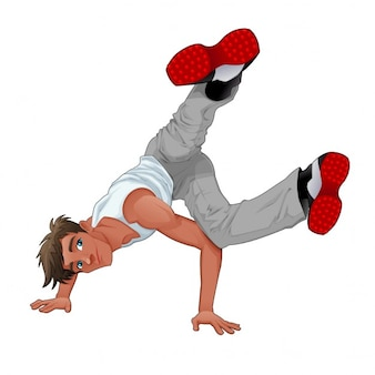 Young man dancing breakdance