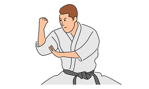 Young man karate