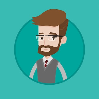 Young man wearing smart glass vector illustration.
