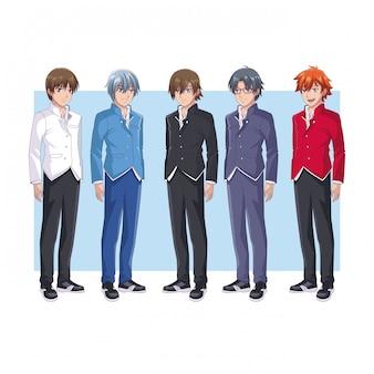 Young mens anime cartoons