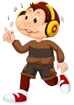 A young monkey character