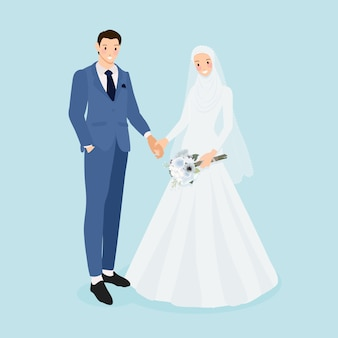 Young muslim wedding couple