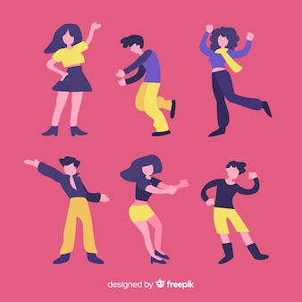 Young people dancing. dance classes. party