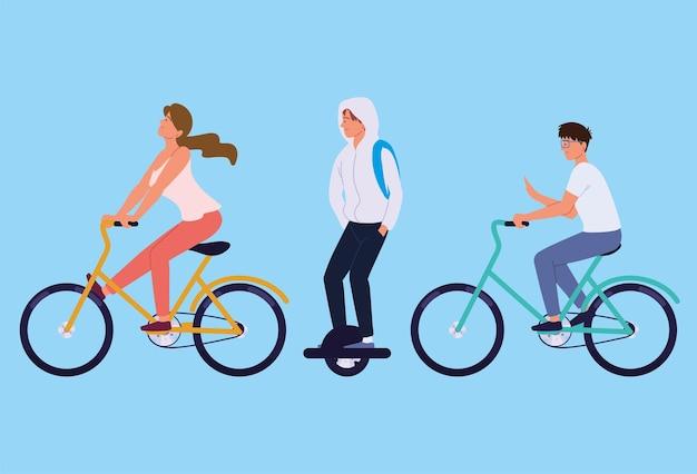 若者のエコロジー輸送
