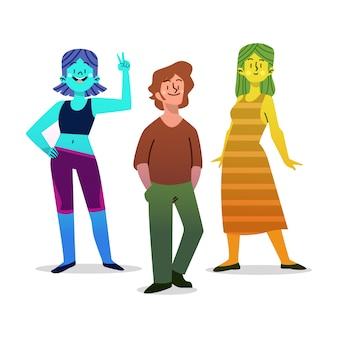 Young people in gradient tones