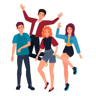 Young people illustration concept