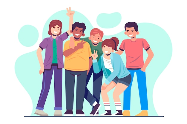 Young people illustration