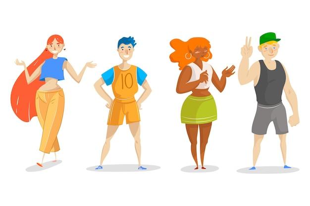 Illustrazione di giovani