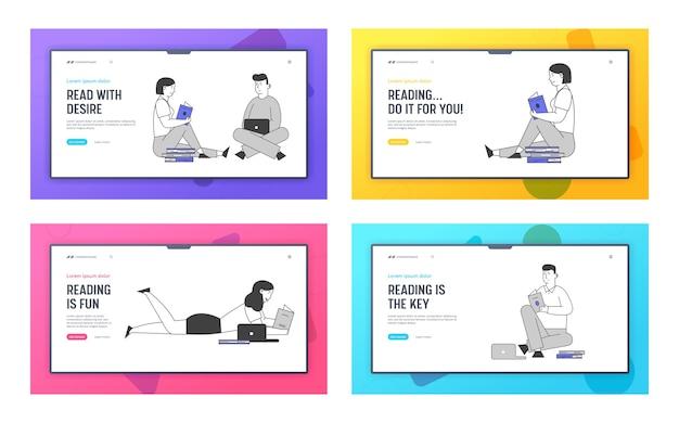 Набор посадочных страниц веб-сайта для молодых людей