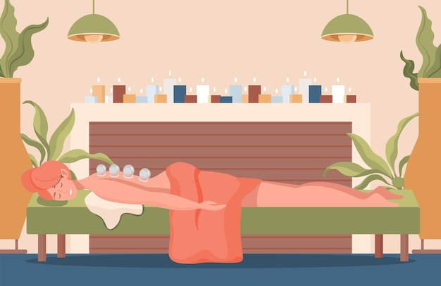Young pretty woman lying on sofa with closed eyes and