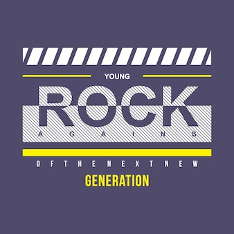 Young rock typography t shirt design