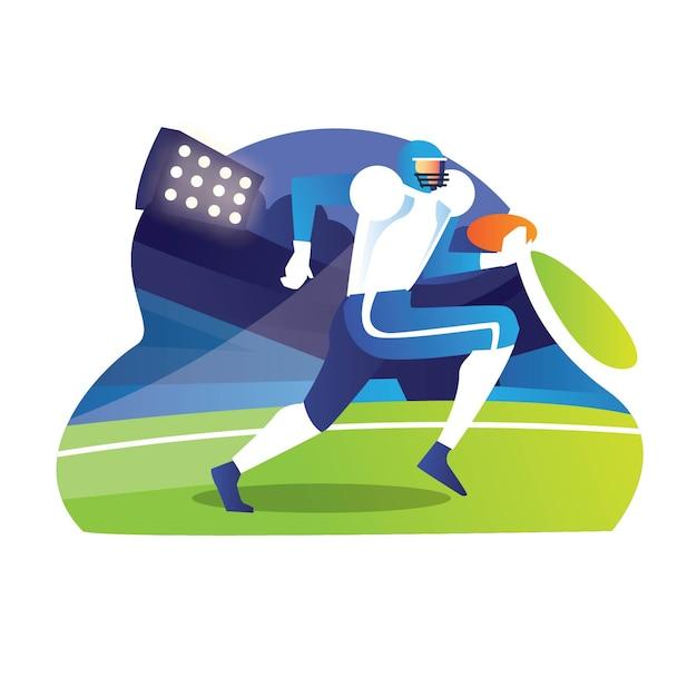 Молодой регбист бежит, чтобы заработать хоумран за игру