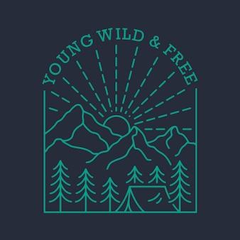 Молодой дикий свободный
