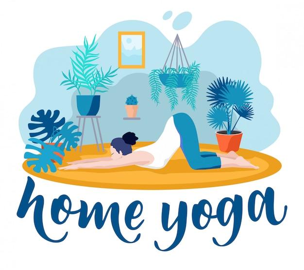 Молодая женщина в позе йоги и медитации