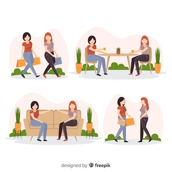 Young women spending time together