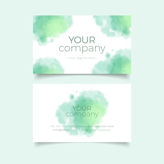 Your company business card template with green pastel colours