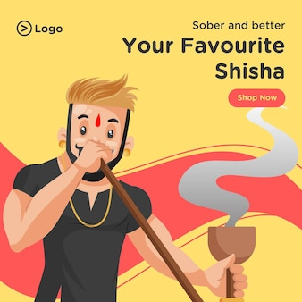 Your favourite shisha banner design template