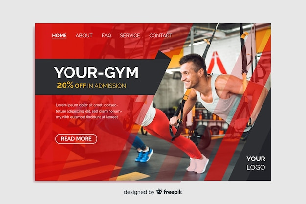 Your gym promotion landing page
