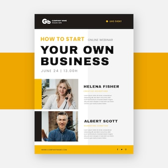 Your own business ad webinar flyer print template