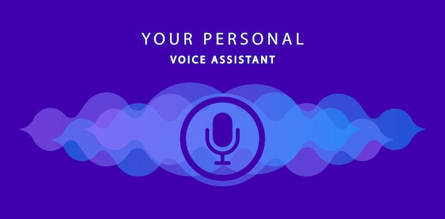 Your personal voice assistant. modern voice recognition. illustration