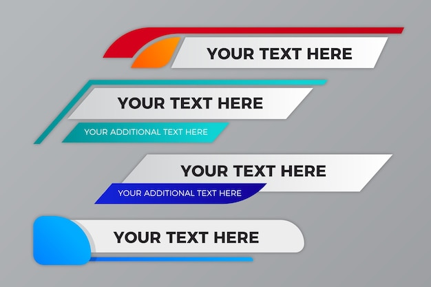 Your text here banners