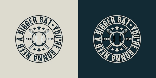 あなたはもっと大きなbatvintageタイポグラフィ野球tシャツのデザインイラストが必要になるでしょう
