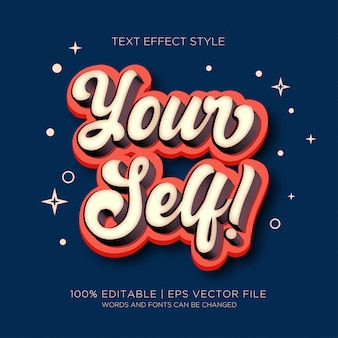 Yourself text effects