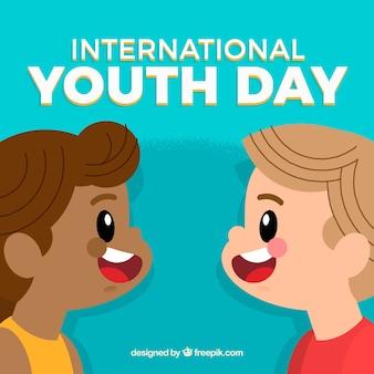 Giornata della gioventù sfondo di bambini carini