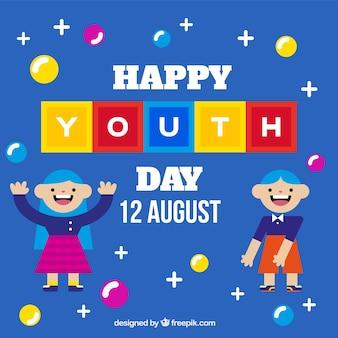 Sfondo giornata della gioventù con i bambini