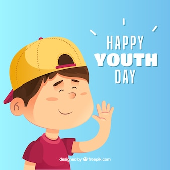 Youth day background with happy kid