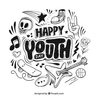 Youth day background with lettering