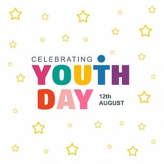 Celebrare la gioventù giorno della stella di sfondo