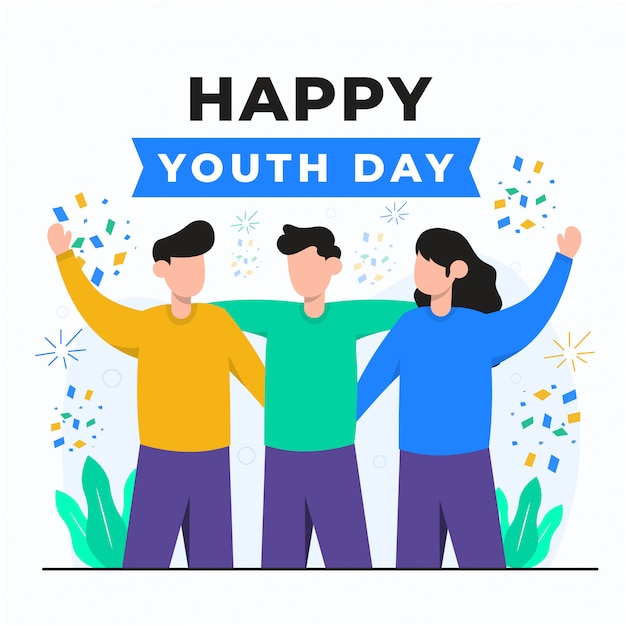 Youth day concept illustration