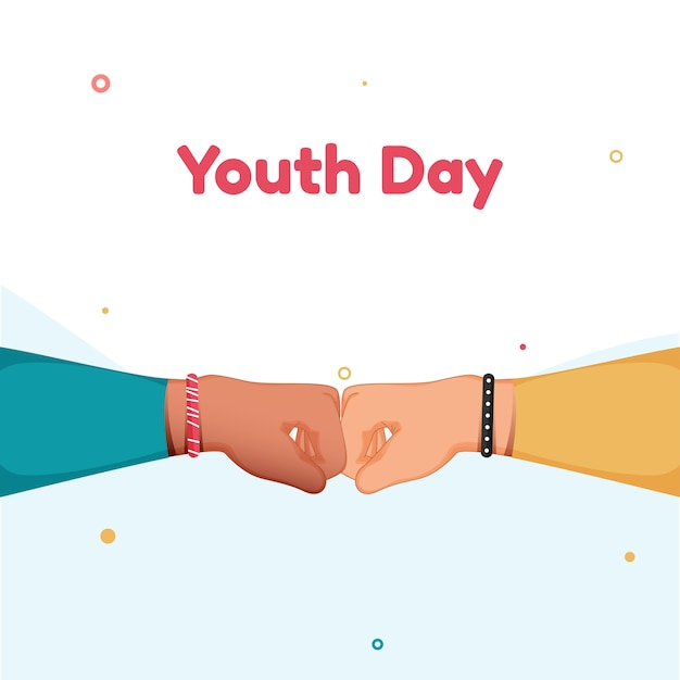 Youth day fist bump illustration