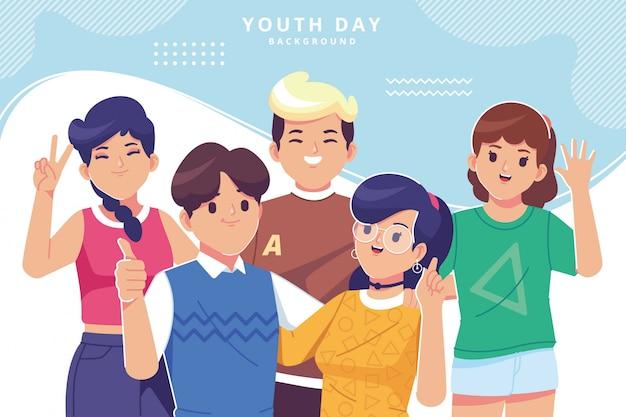 Youth day illustration background