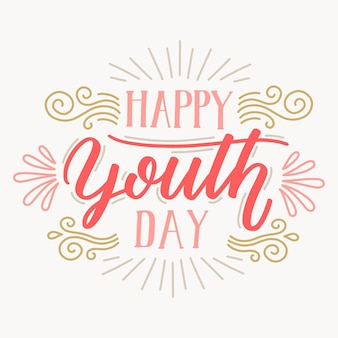 Youth day lettering background
