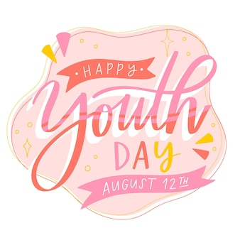 Youth day lettering concept