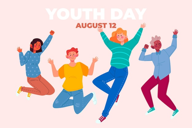 ジャンプする人たちとの青春の日