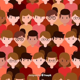 Youth people pattern flat design
