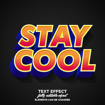 Youth style font effect for banner and sticker