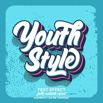 Youth style retro text effect