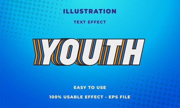 若者のテキスト効果
